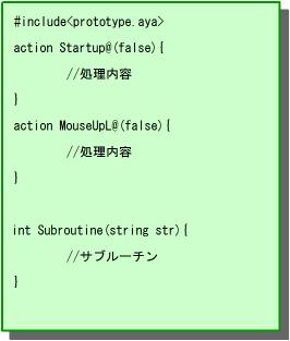 C言語の記述